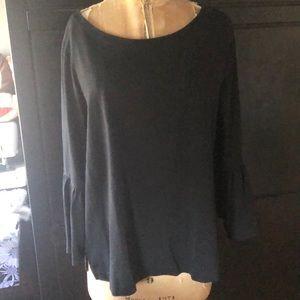 Jcrew black knit long sleeve shirt